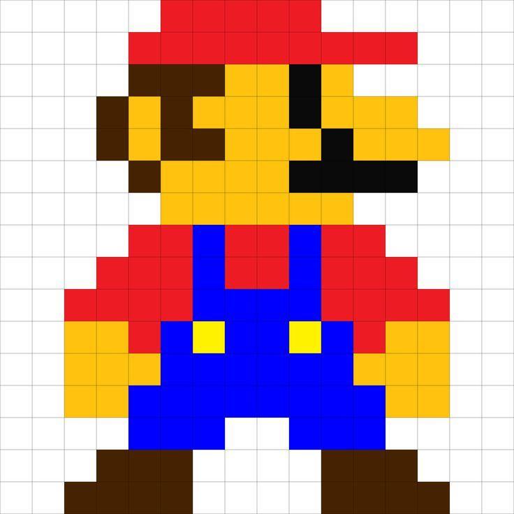 Amazoncom Stencil  8 bit Super Mario Medium Handmade