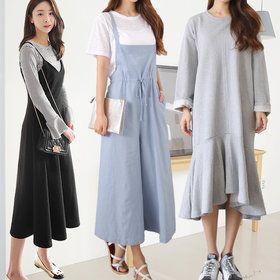 Gmarket - tntree Long sleeve dress / knee length / ankle lengt...