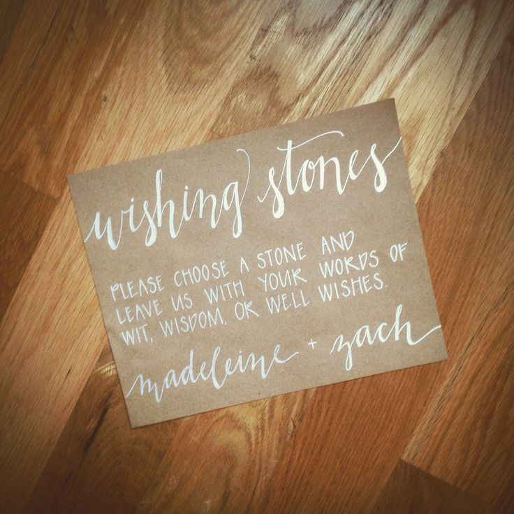 Wishing Stones Wedding Guestbook Sign