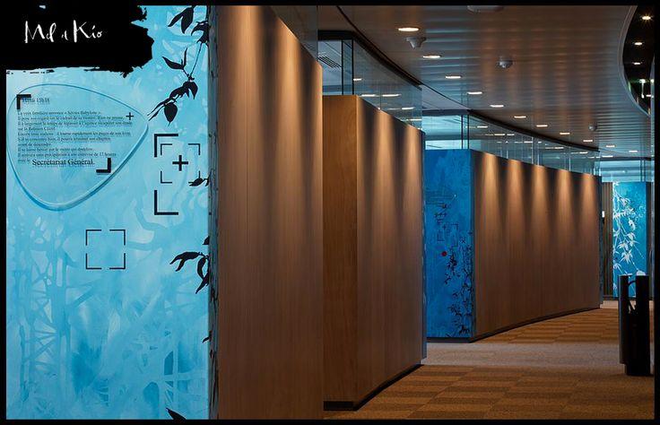 Mel et Kio - Décoration murale pour les entreprises - Bouygues Telecom Siège social