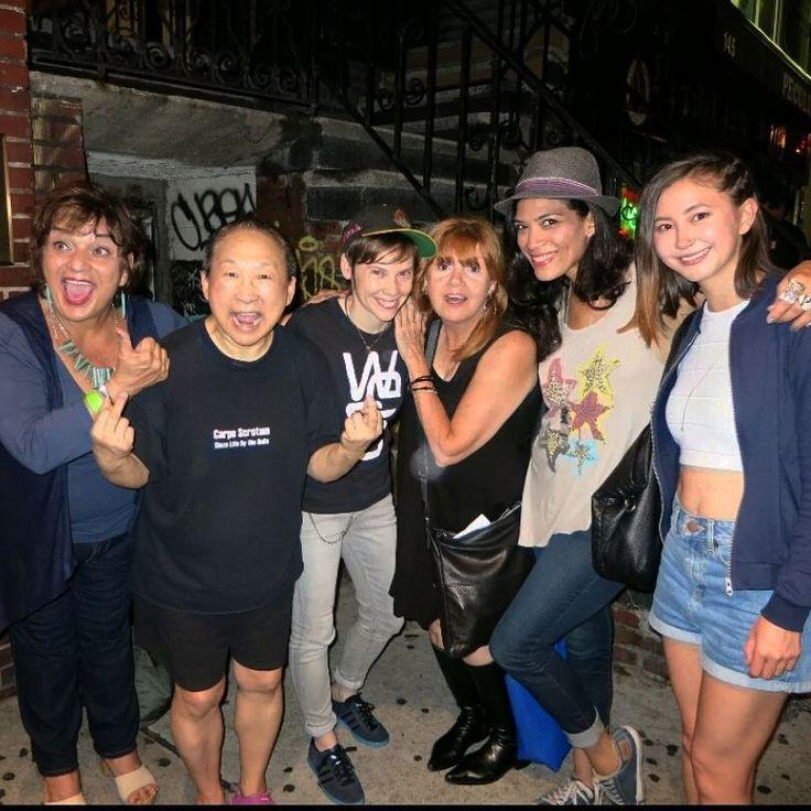 Abigail Savage   L to R: Lin Tucci, Lori Chinn, Abigail Savage, Annie Golden, Laura Gomez, and Kimiko Glenn