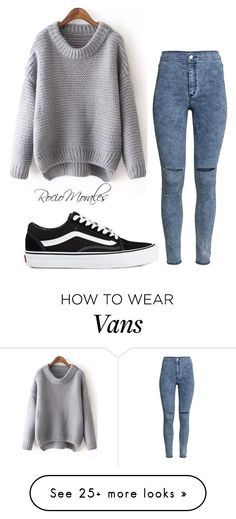 """Untitled #301"" by rocio06morales on Polyvore featuring H&M and Vans"