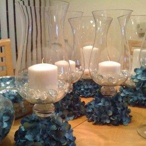 Quinceanera Centerpieces Blue Turquoise centerpieces...