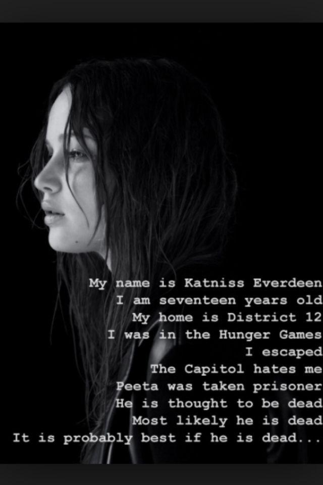 Katniss Monologue Hunger Games Quotes Katniss Everdeen