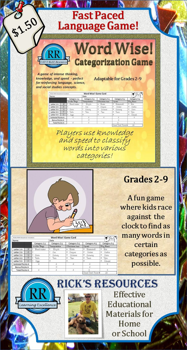24 best Reading games for middle school images on Pinterest | School ...