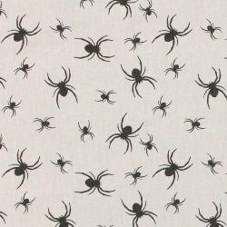 Baumwolle, Sand mit schwarzen Spinnen