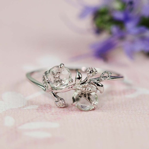 Silver Green Amethyst White Floral Ring $50: Handmade Silver, Amethysts White, Green Amethysts, Cz Floral, Beautiful Rings, White Floral, Silver Green, Floral Rings, Handmade Jewelry