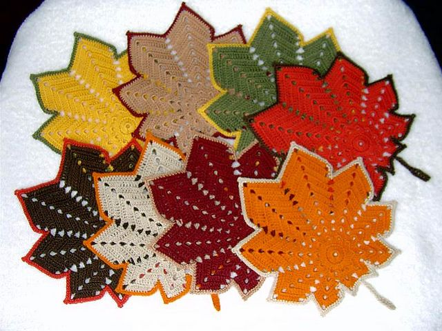 Autumn Leaves Parade - Nov. 2010, Thread Crochet, via Flickr.
