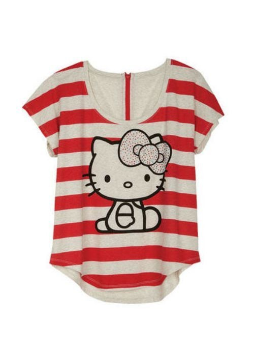 9 best images about hello kitty shirts on pinterest for Hello kitty t shirt design