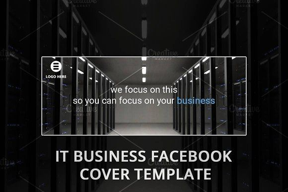 TECH COMPANY FACEBOOK PAGE TEMPLATE by NeptuneOnline on @creativemarket
