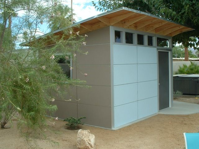 67 best images about storage shed on pinterest storage for Mid century modern shed