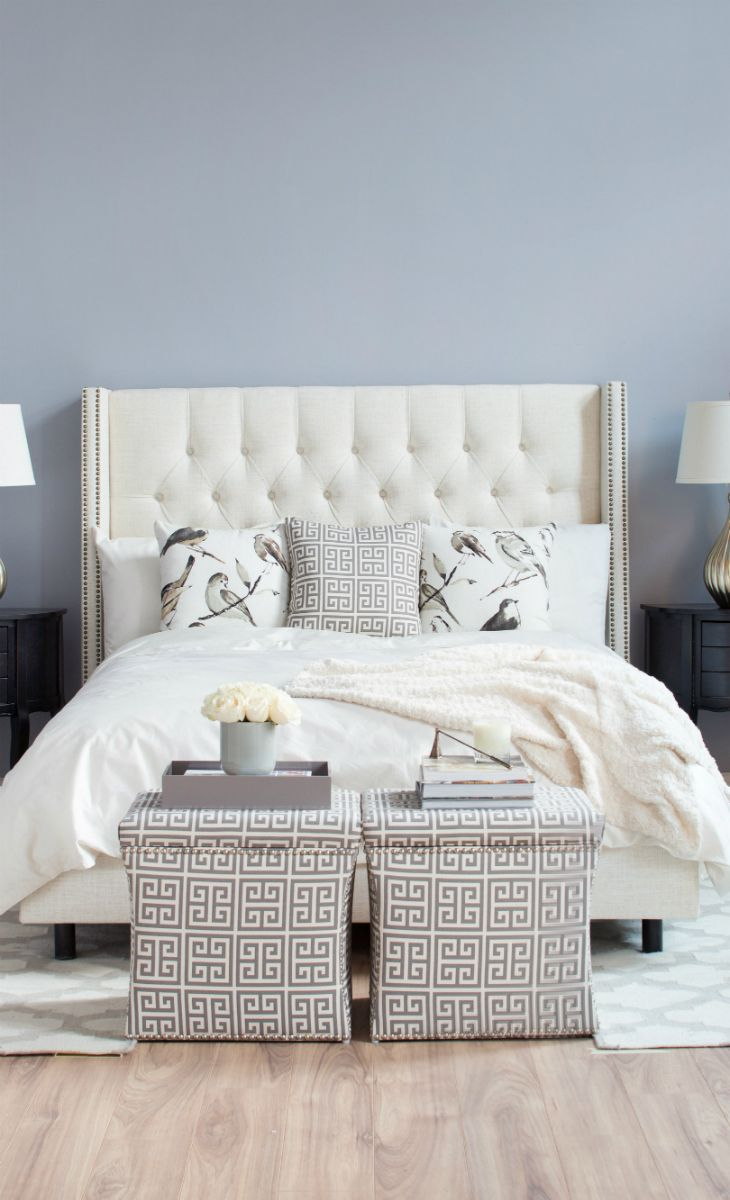 we love airy neutrals for the bedroom shop the look at
