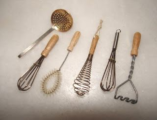 Miniature kitchen utensils. For those days when you don`t feel like cooking a big meal...