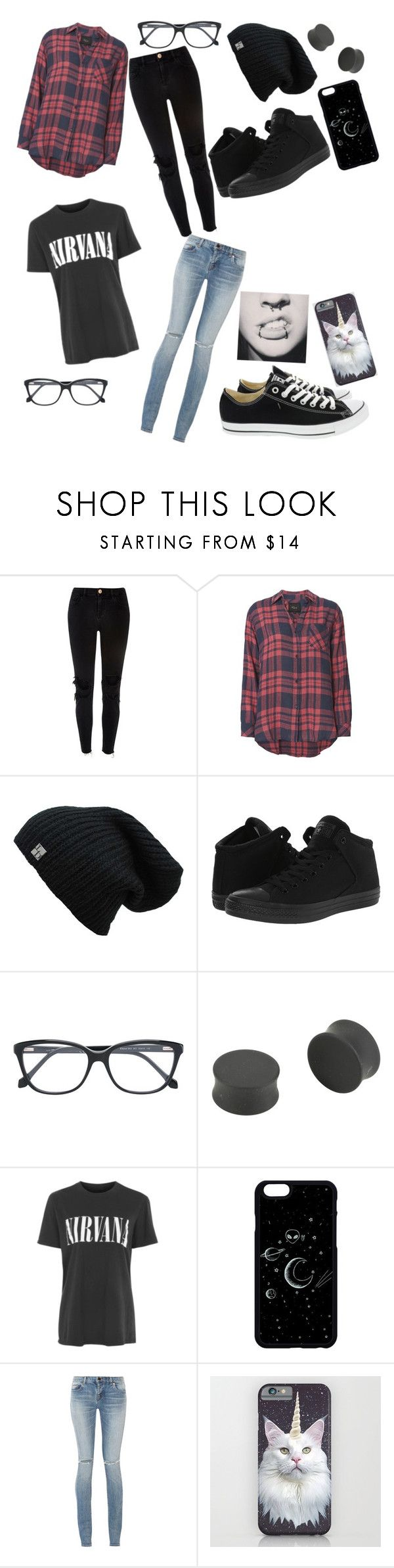 """Hipster"" by kute-clothes ❤ liked on Polyvore featuring River Island, Rails, Converse, Roberto Cavalli, Topshop and Yves Saint Laurent"
