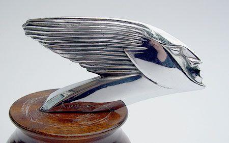 1925 Aucher Speed Head Car Mascot, Hood Ornament