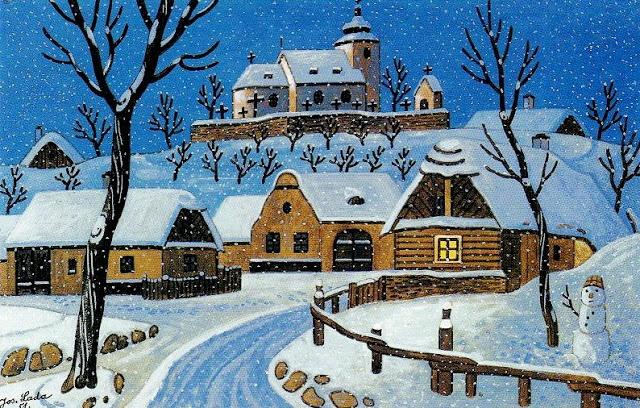 Czech winter by Josef Lada