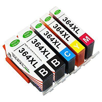 Toner Kingdom 5 Pack (1 Set + 1 x Negro) Compatible HP 364XL 364 Cartucho de tinta Compatible para HP Photosmart 5510 5511 5512 5514 5515 5520 5522 5524 6510 6520 6512 6515 7510 7520 7515 B8550 B8558 B110c B010a C5370 C5383 C5388 C6324 C6380 D5460 D7560 C310a C410a B209a B210a HP Deskjet 3070A Impresora
