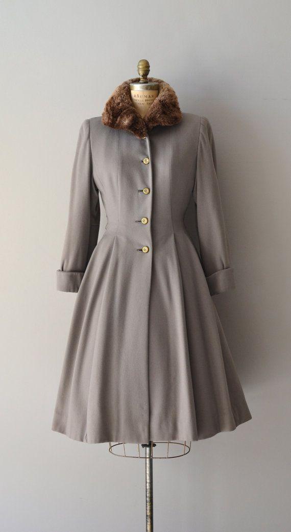 Lolland wool coat / vintage 40s wool princess coat / by DearGolden, $475.00