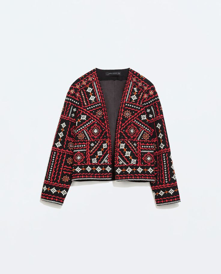 Image 9 of ETHNIC EMBROIDERED JACKET from Zara