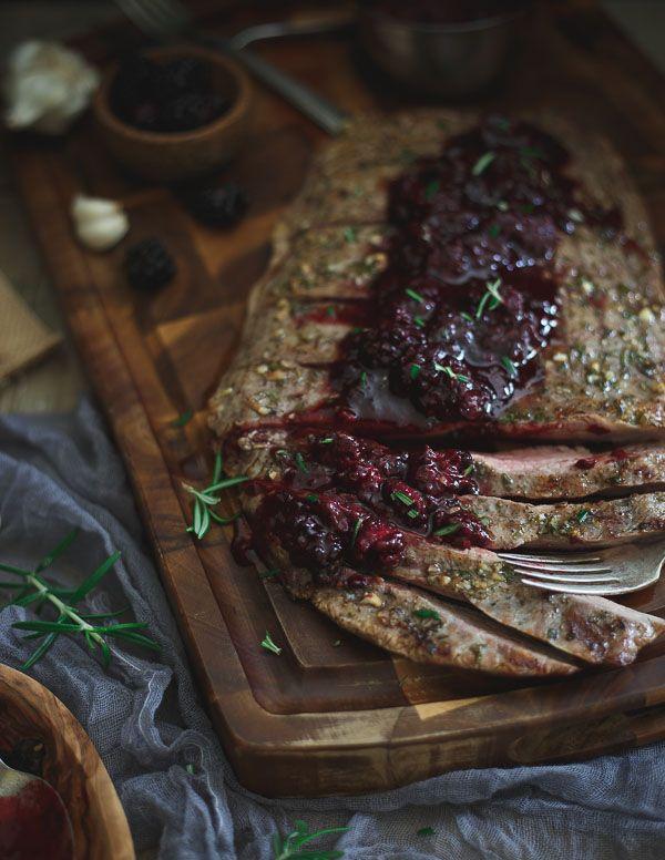 Rosemary Garlic Flank Steak with Tangy Blackberry Sauce | Recipe ...