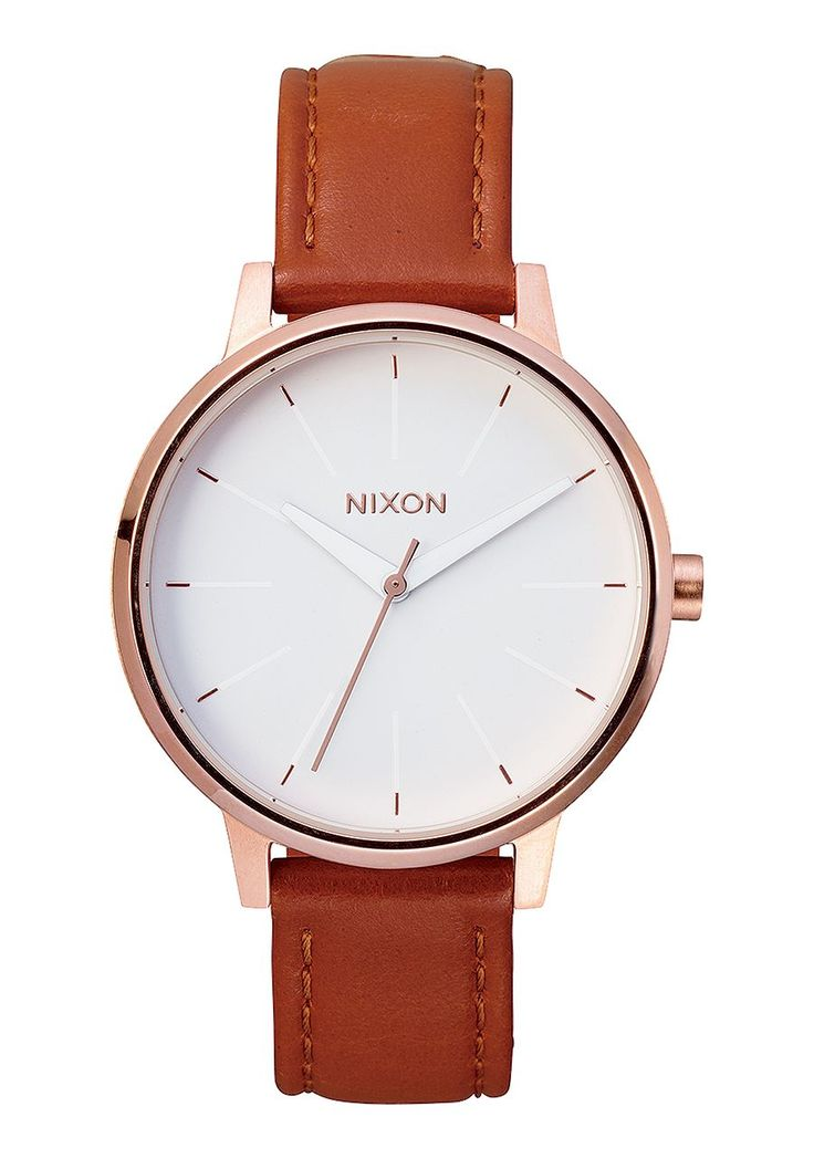 KENSINGTON LEATHER , 37 MM in Rose Gold & White