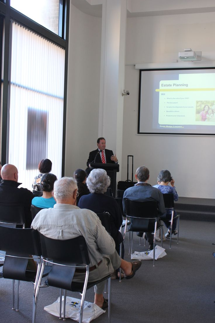 Solicitor Mr James Kelly delivers talk @Hurstville LMG on 'Planning the Future: Wills and Power of Attorney' for  #lawweek2014 Friday 16th May  #findlegalanswers http://lmg.hurstville.nsw.gov.au/