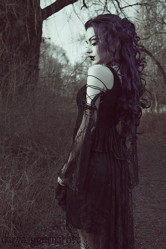 Model/MUA/ Photo: Darya Goncharova  Dress: Gothlolibeauty / Dark in love  Choker: Sinister / The Gothic Shop