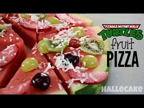 Teenage Mutant Ninja Turtles Fruit Pizza. A healthy fun snack for kids!