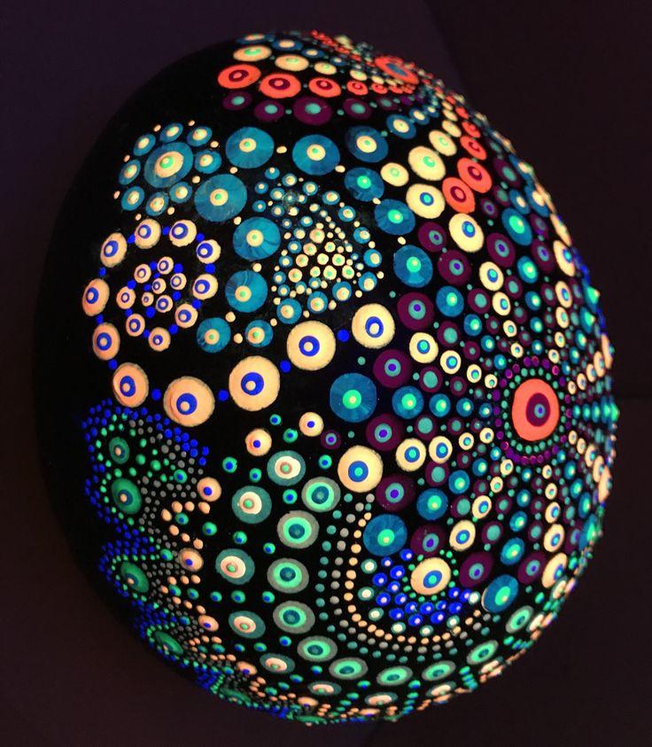 Mandala Stone With Multiple Designs