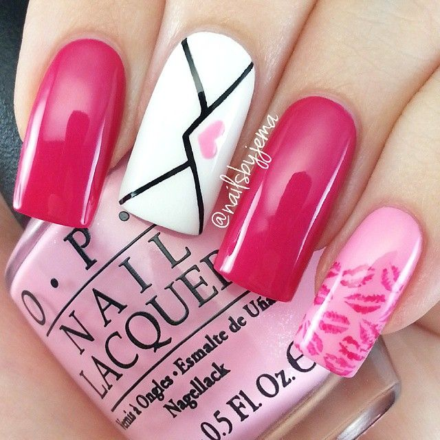 Instagram media nailsbyjema - valentine  #nail #nails #nailart
