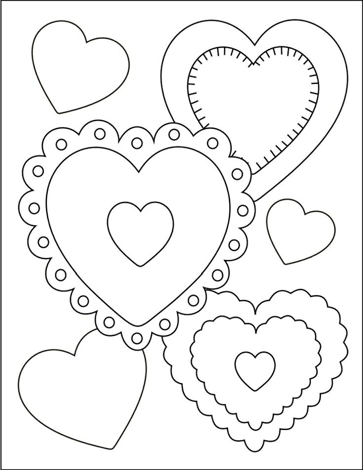 125 best Valentines Day Coloring images on Pinterest | Coloring ...