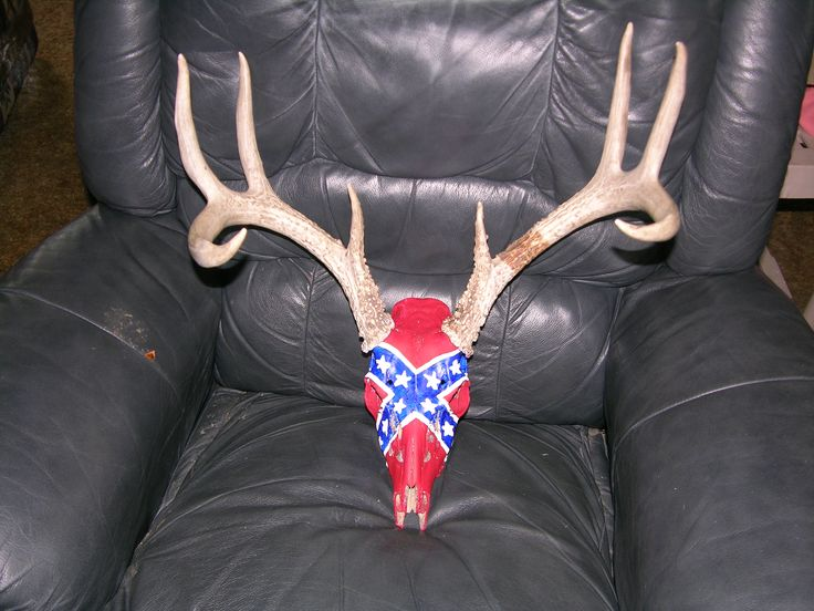 this is a skull i made for my dear husband, rebel flag, his pride and joy