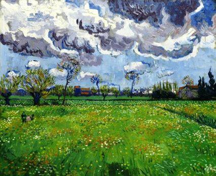 Vincent van Gogh: Landscape Under a Stormy Sky, 1889