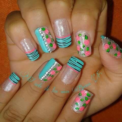 Rosales en base pastel
