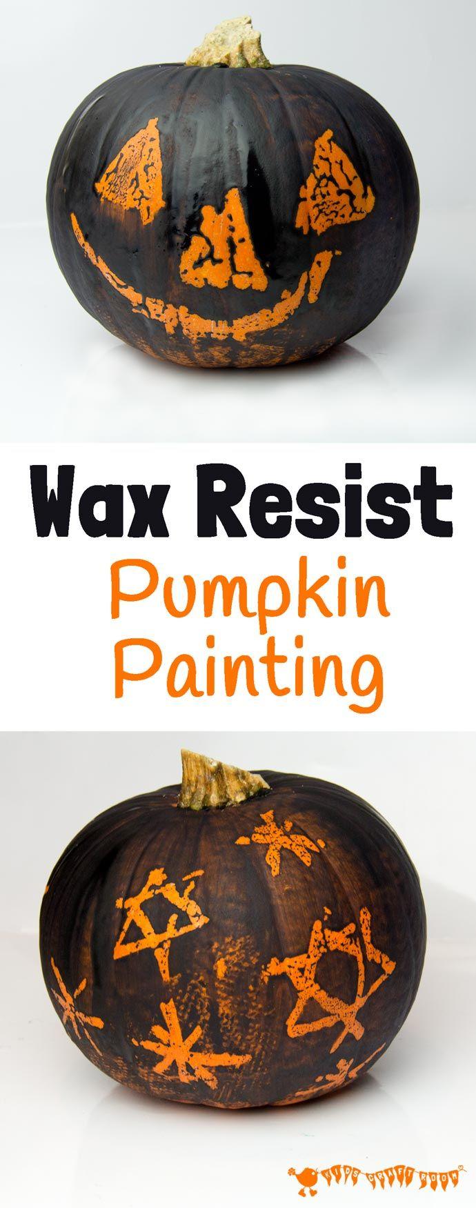 Wax resist pumpkin carving alternative crafts