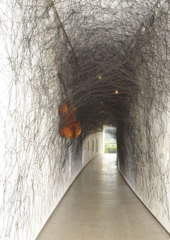 """State of Being"" installation by Chiharu SHIOTA, Japan. http://decdesignecasa.blogspot.it"