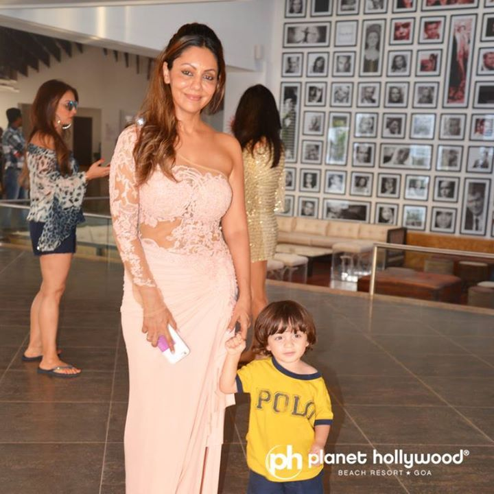 The 5 star Beach Resort at #Goa, where celebrities celebrate !  Ms. Gauri Khan with her son #Abram at Planet Hollywood Goa.  #Book your stay online at www.planethollywoodgoa.com