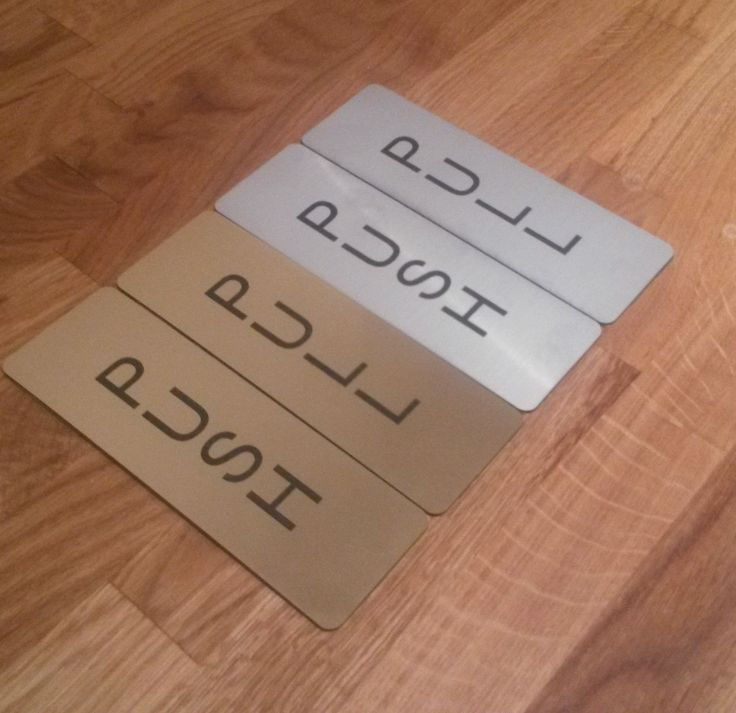 Push and Pull Door Signs with Self Adhesive Backing Brushed Gold or Silver | eBay