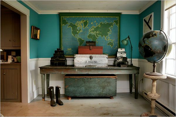 ads officeWall Colors, Schools Room, Offices, Globes, Vintage Maps, World Maps, Teal, House, Maps Room