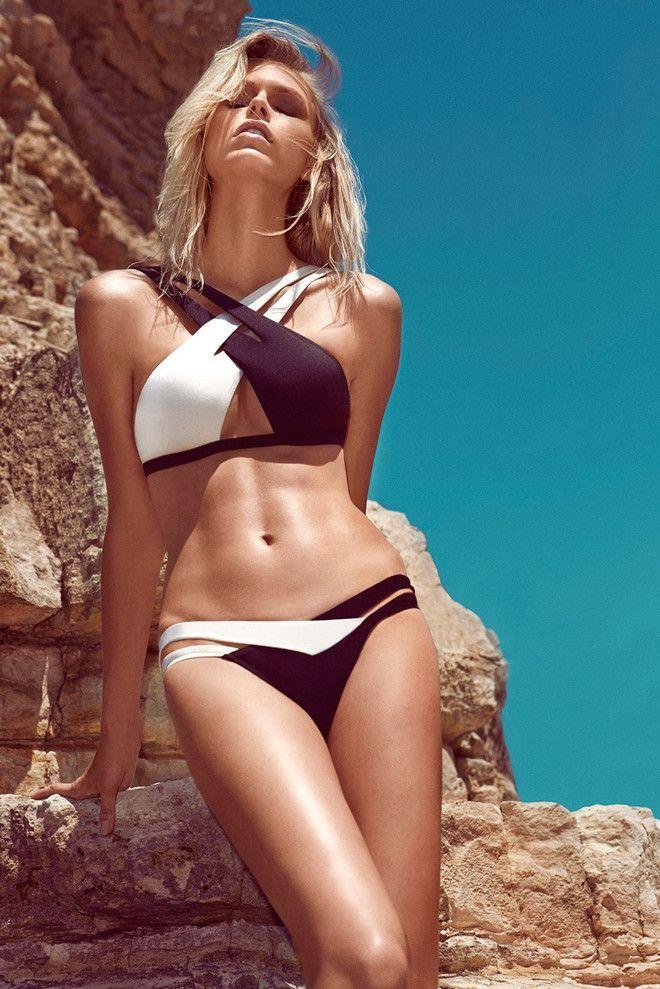 Moeva swimwear 2014  ---///My immediatisier Association: Looks like a PIZ BUIN ad :-)  almost like branding without Logo usage