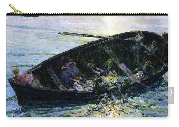 Miraculous Carry-all Pouch featuring the painting Miraculous Haul Of Fishes 1914 by Tanner Henry Ossawa