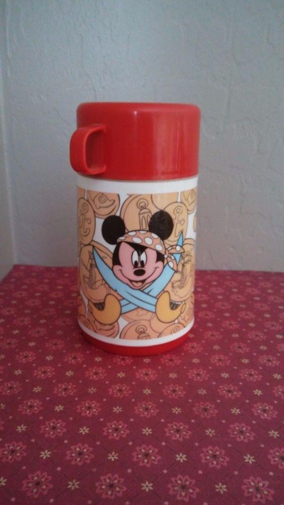 Walt Disney Mickey Mouse & Donald Duck & Goofy Pirate Aladdin Lunch Box Thermos #ALADDIN