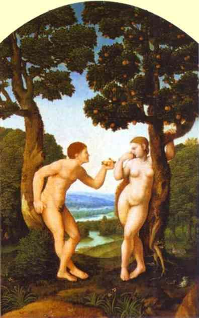 Ян ван Скорел (Jan van Scorel) (1495 - 1562) — Адам и Ева (1540, Частная коллекция)