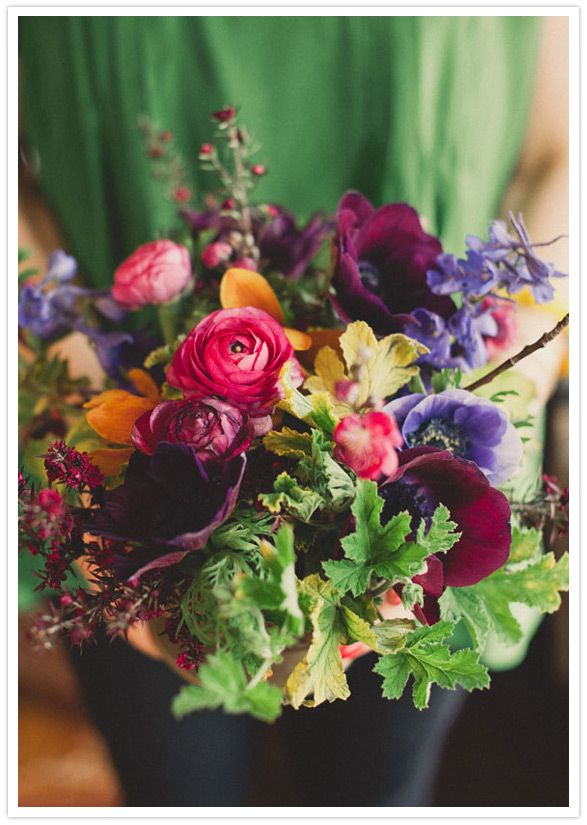 Loving the deep bold colors in this bouquet