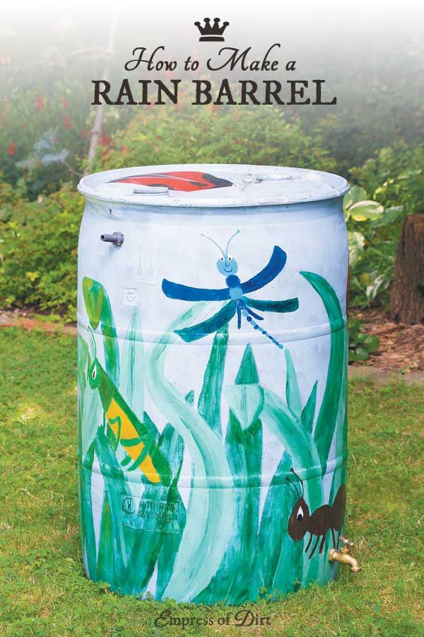Free instructions for making a rain barrel for your garden
