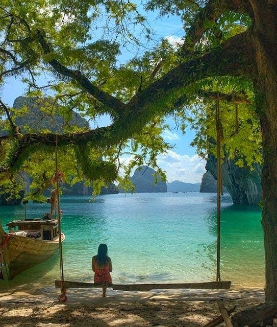 Peaceful Setting at Krabi, Thailand... Would be a great swing in front of a lake too!