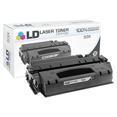 LD © Compatible Replacement for HP 53X / Q7553X High Yield Black Laser Toner Cartridge for LaserJet M2727 MFP, M2727 nf MFP, M2727nfs MFP, P2015, P2015d, P2015dn & P2015x