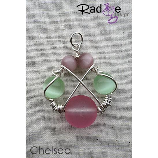 $54 Chelsea Pendant Sterling Silver with Glass Beads by radgedesign on Handmade Australia