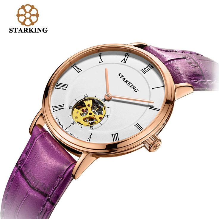 STARKING Ladies Automatic Mechanical Watches Women Hollow Bracelet Watch Leather Rose Gold Female Watch relojes mujer AL0197-in Women's Watches from Watches on Aliexpress.com | Alibaba Group