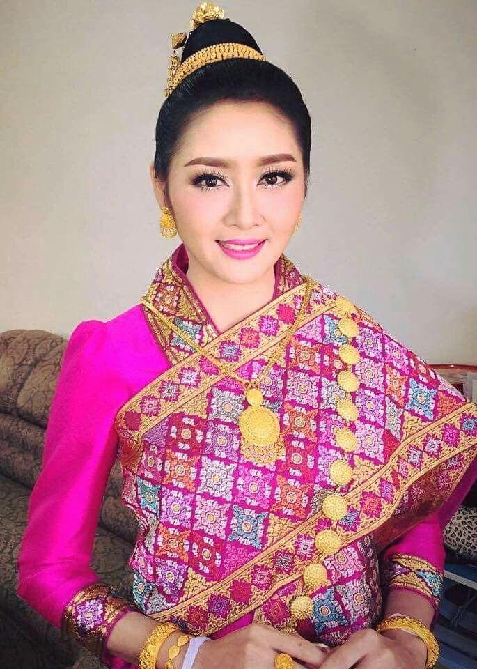 Traditional Lao Bridal wear.